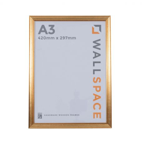 """16"""" x 12"""" - Deluxe Gold Wooden Photo Frame"""