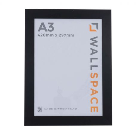"16"" x 12"" - 40mm Smooth Matt Black Photo Frame"
