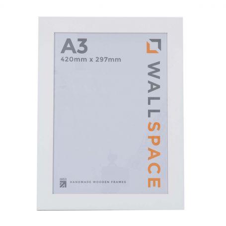 "16"" x 12"" - 25mm Smooth Matt White Photo Frame"