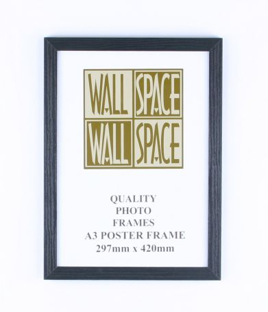 A3 Wooden Poster Frame - Black Wood