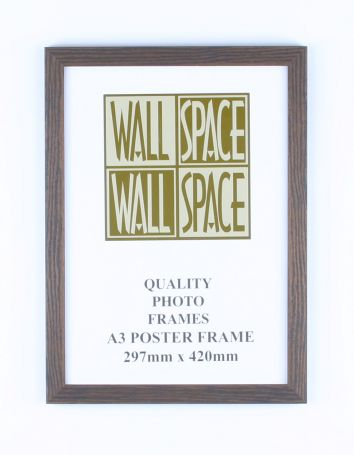 A3 Wooden Poster Frame - Brown Wood