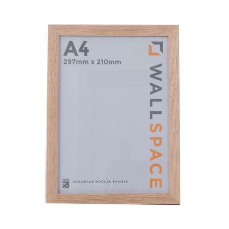 A4 Photo Frame Solid Oak