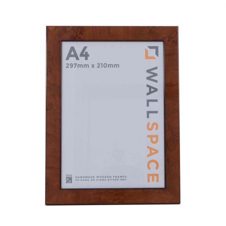 A4 Gloss Walnut Photo Frames