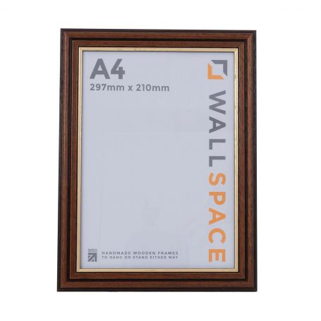 A4 Traditional Brown Frame
