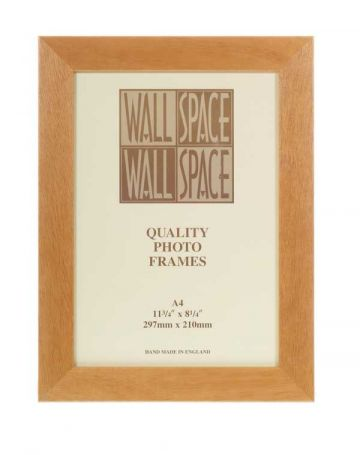 A4 Certificate Frame Pine, A4 Photo Frame Light Wood