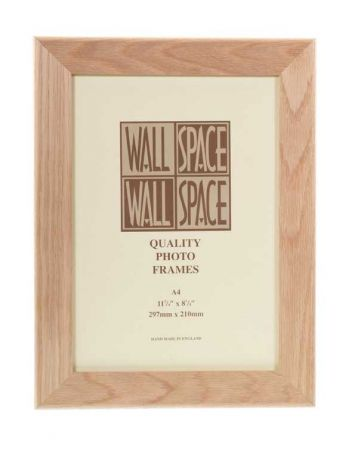 A4 Photo Frame Solid Oak