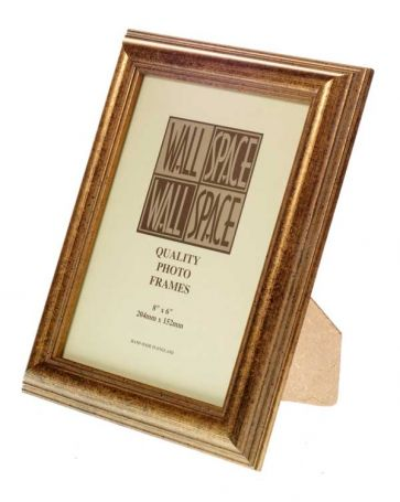 "8"" x 6"" - Speckled Gold Wooden Photo Frame"