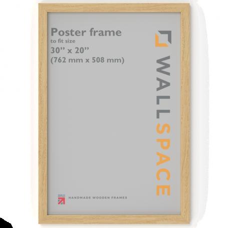 Solid Oak Poster Frame - 30 x 20