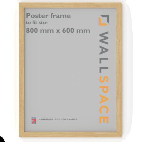 Solid Oak Poster Frame - 600mm x 800mm