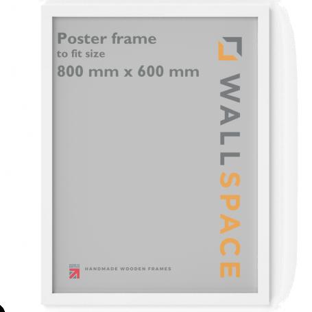 White Wooden Poster Frame - 600mm x 800mm