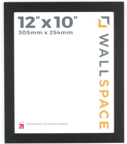 12 x 10 - 25mm Smooth Matt Black Photo Frames