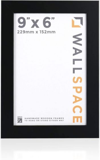 9 x 6 - 25mm Smooth Matt Black Photo Frames