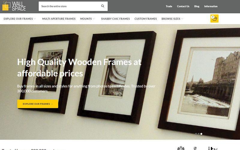 New Website - with a Custom Sized Frame Designer!